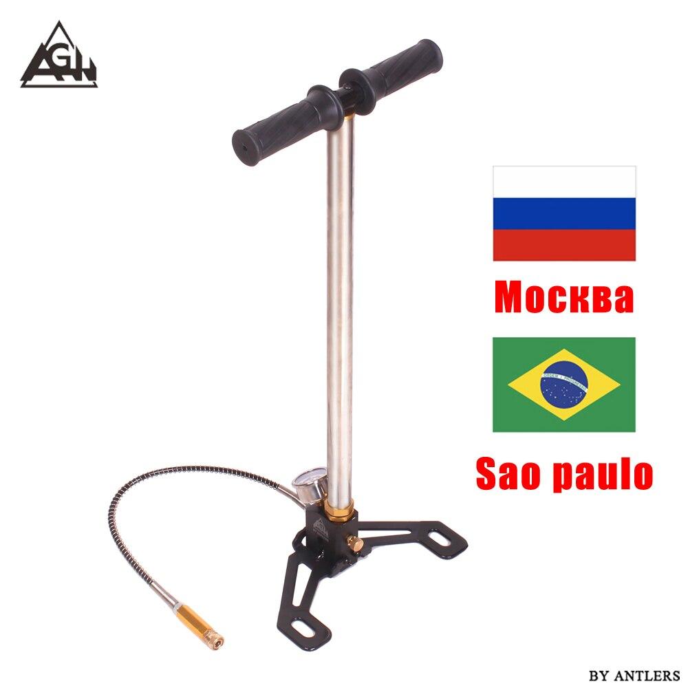 30mpa 4500psi ar pcp paintball bomba de 3 estágios rifle ar bomba mão alta pressão com filtro bomba pompa não colina mini compressor