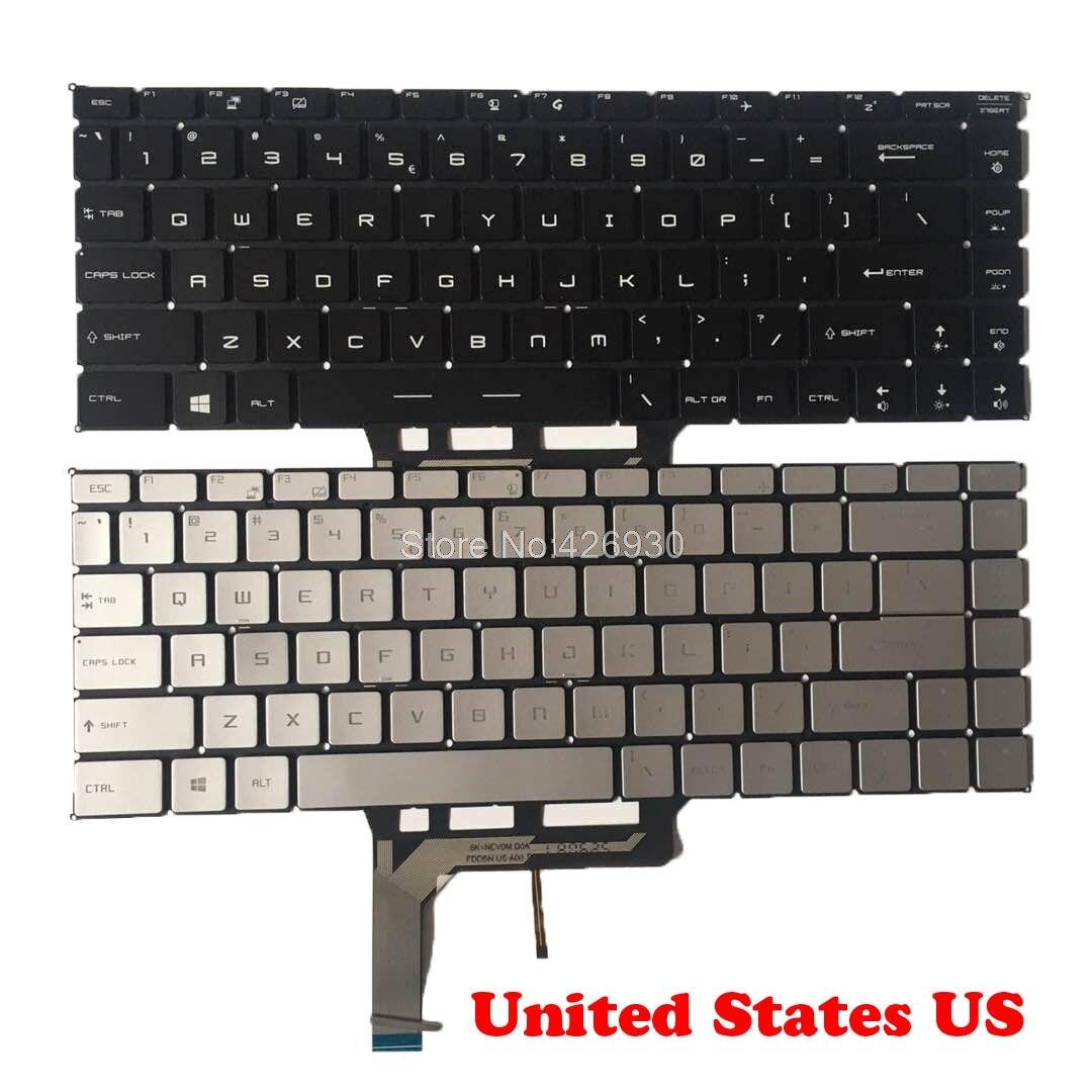 الإنجليزية الخلفية لوحة المفاتيح ل MSI GS65VR PS42 8RA 8RB 8RC 8MO MS-16Q1 Q2 Q3 Q4 GF63 MS-16R1 16R2 26R1 PS42 8M GF63 8RD