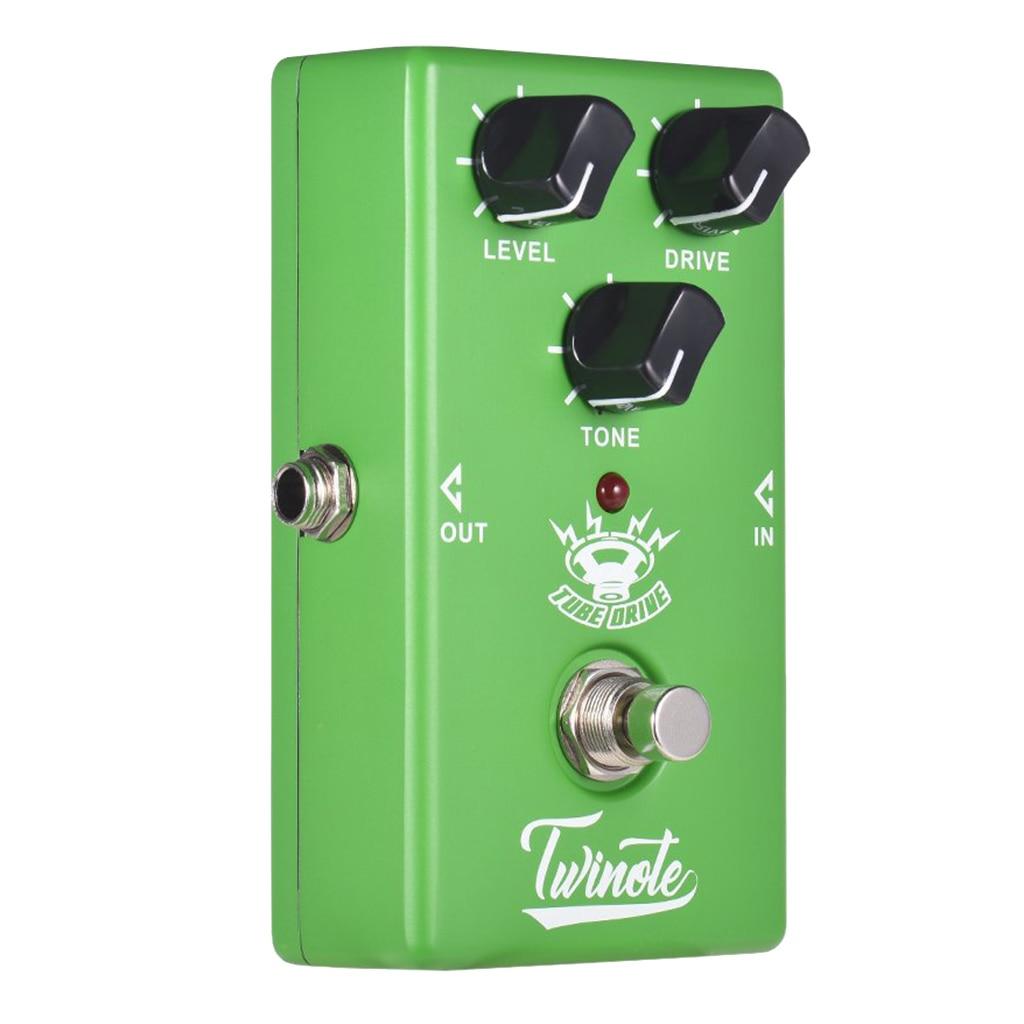 1 unidad de guitarra de tubo Twinote Pedal de efecto con circuito análogo Mini procesador de efectos para guitarra eléctrica