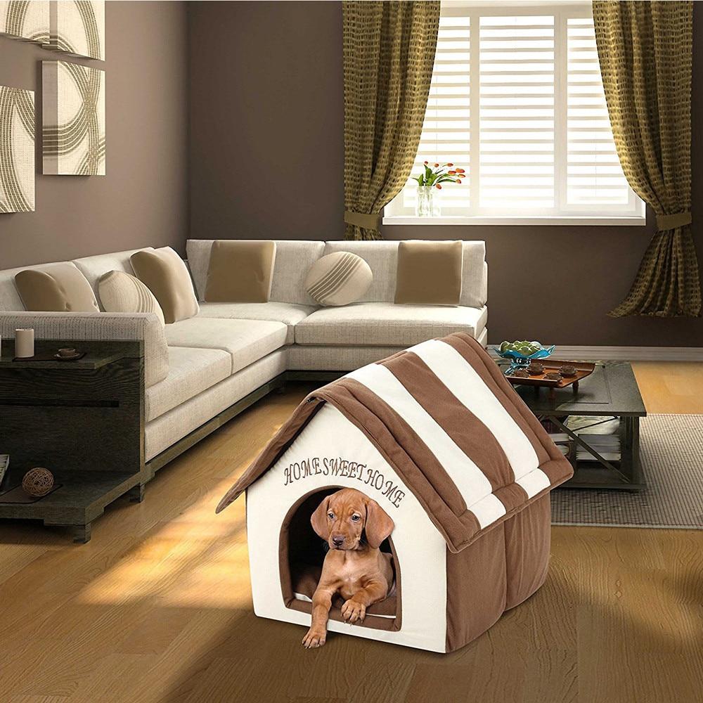 N. ° 38 cama para mascotas portátil de interior, caseta para perros suave, cálida y cómoda, caseta para gatos y perros, sofá para casa para gatos, Chihuahua
