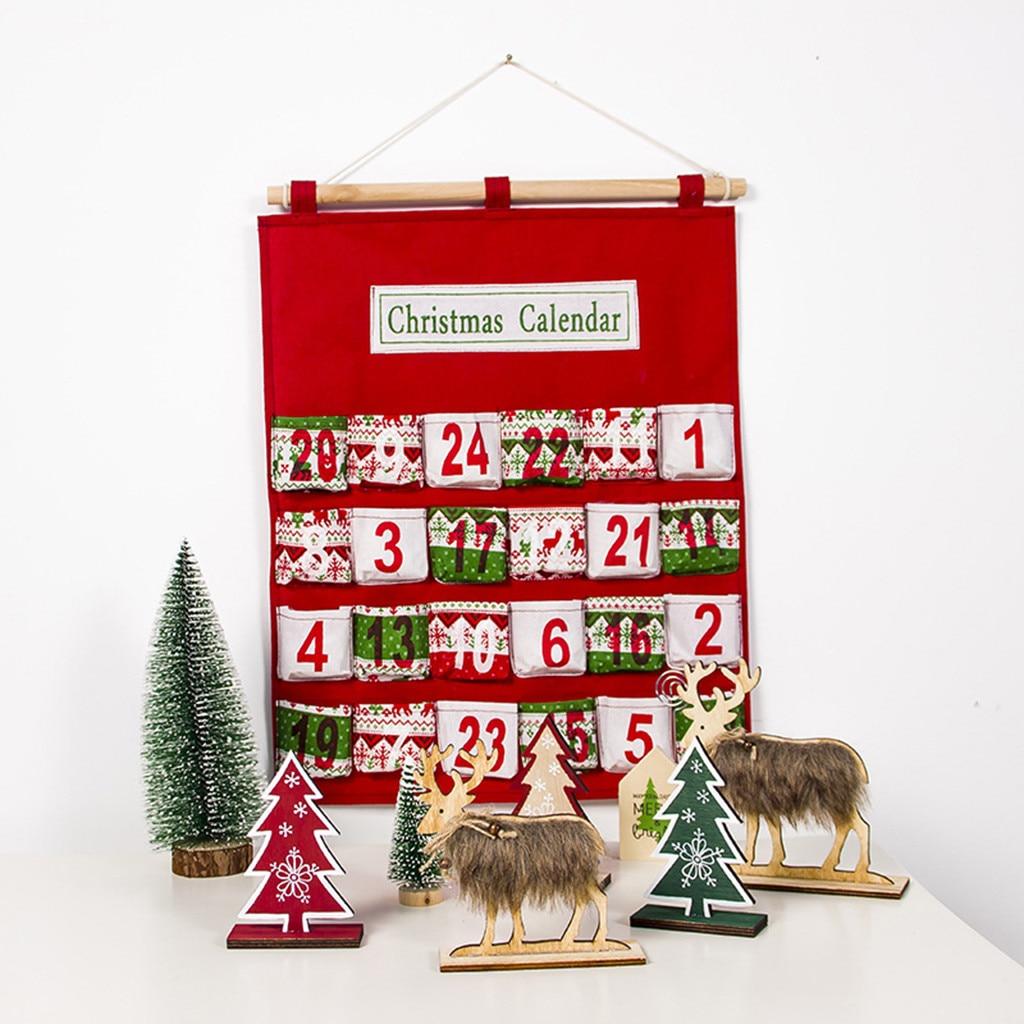 Christmas Advent Calendar Traditional advent calendar gifts Wall Hanging Decor Christmas pendant calendar Xmas ornament 2020