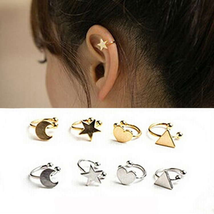 E241 creative Korean star/ love /moon ear clip and U type ear clip wholesale