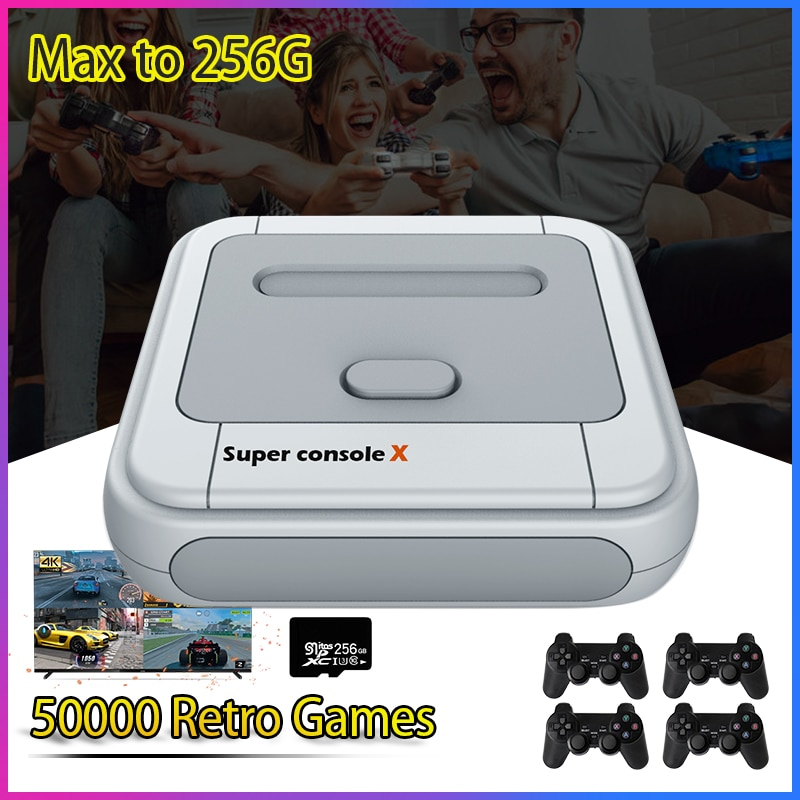 Super Console X Classic Retro Video Game Console Emulator Console Newest Game Player With 50000 Games For PSP/PS1/DC Max to 256G
