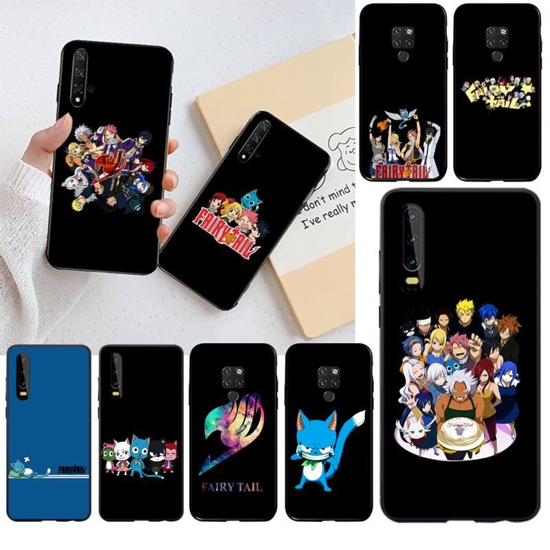 HPCHCJHM манга, сказочный хвост, DIY печать, чехол для телефона, чехол для Huawei P30 P20 lite Mate 20 Pro lite P Smart 2019 prime