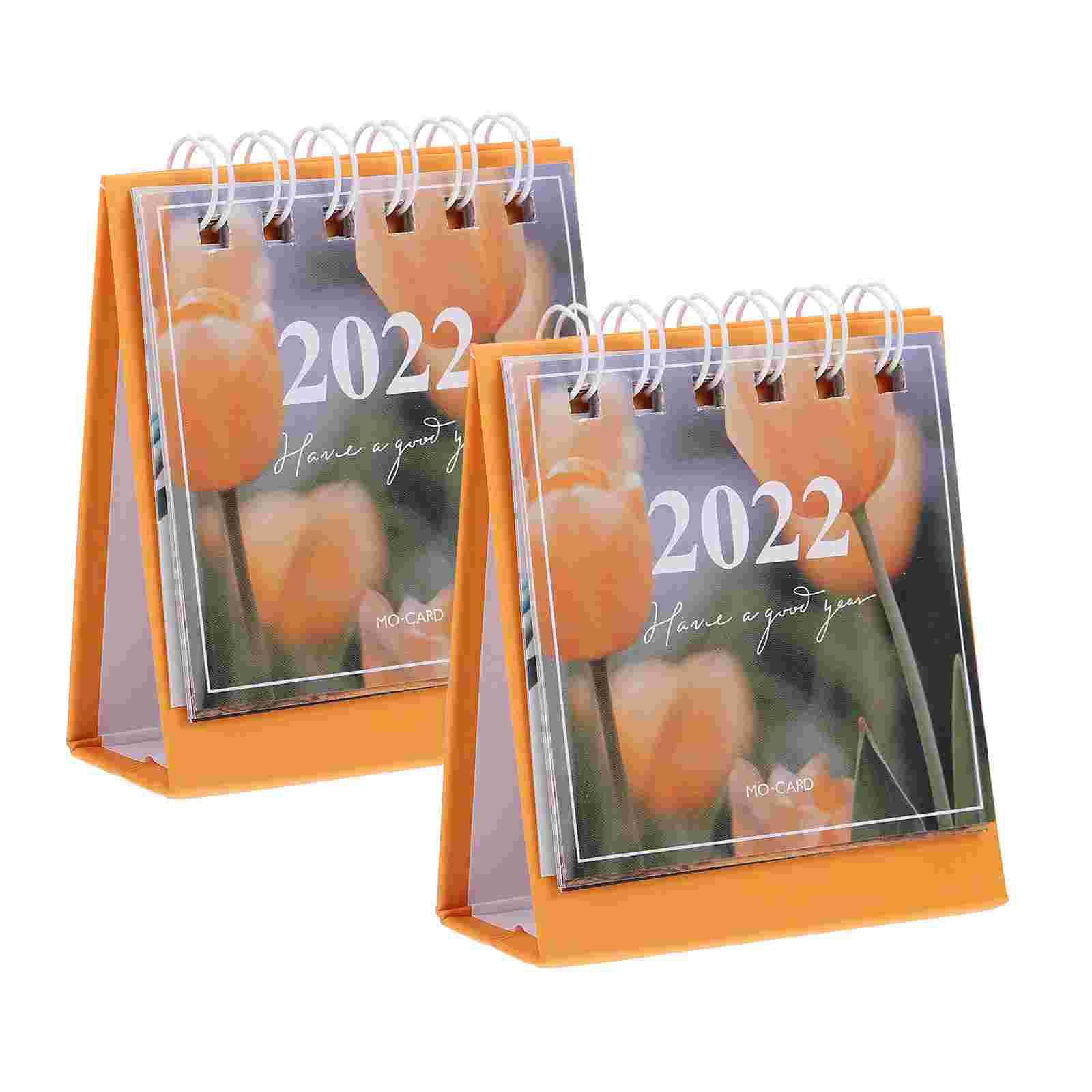 Настольные мини-календари, новогодние мини-календари, цветные мини-календари, 2 шт.