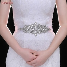 Topqueen-s01シルバーラインストーン付きウェディングベルト,女性用,ドレス用,花嫁介添人用アクセサリー,スパンコールベルト