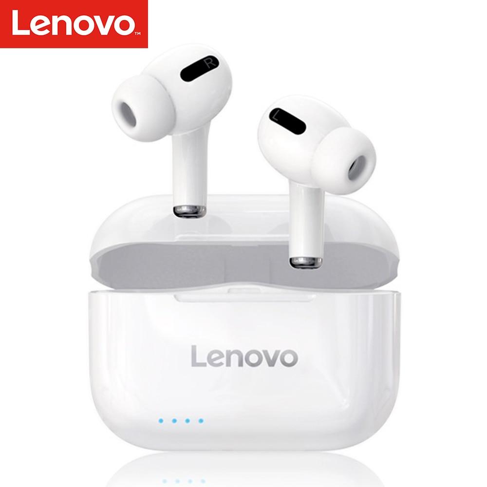 Lenovo LP1S Wahre Drahtlose Ohrhörer BT 5,0 TWS Stereo Kopfhörer mit Dual Membranen Hosts IPX4 Wasserdichte Sport