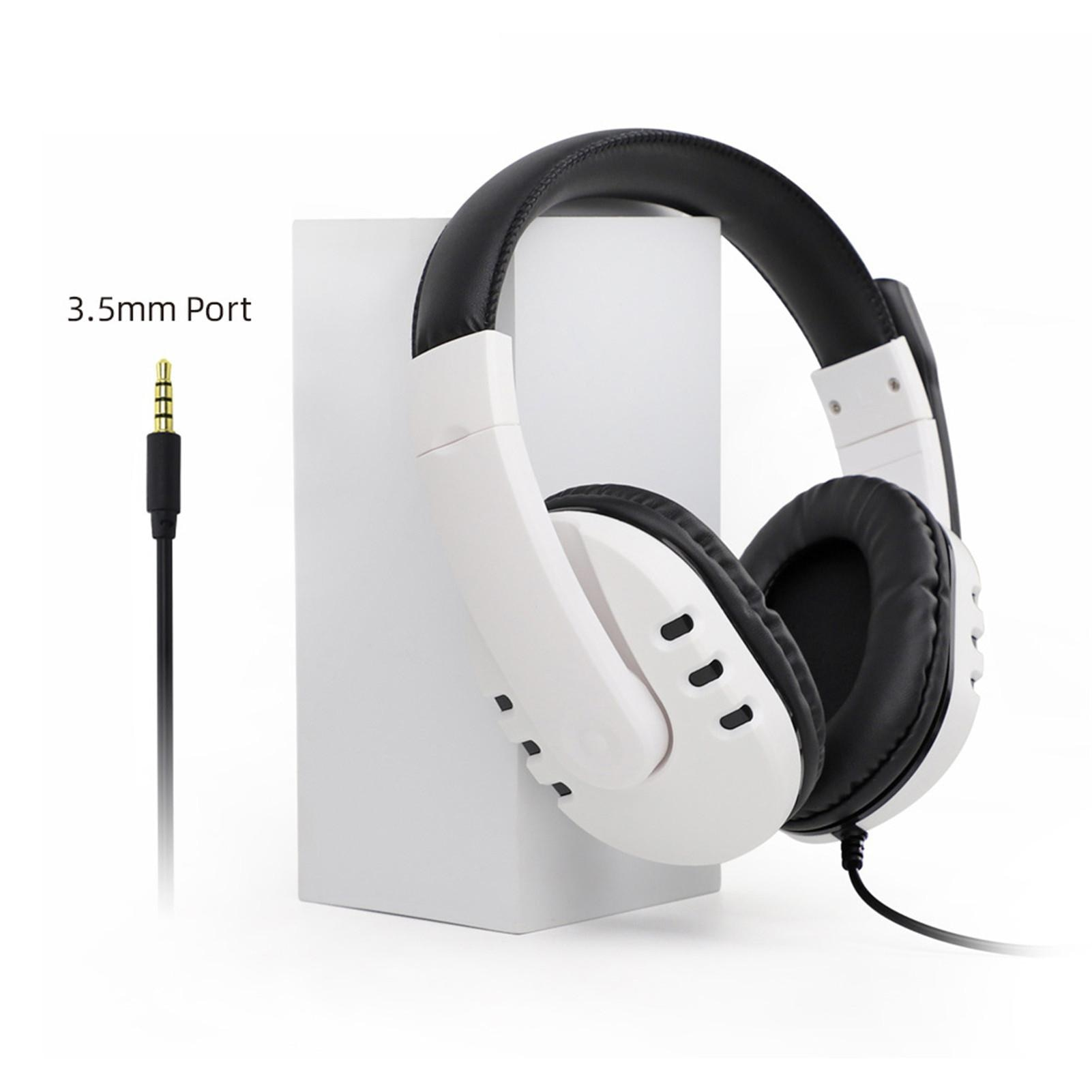 Headset Wired Stereo Surround Plastic Head-mounted Gaming Headphone for PS5 PS4 Pro/Slim Xbox One Series X/S Computer Laptop