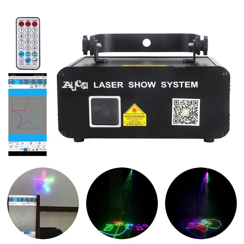 APP Bluetooth Remote Contorl Program RGB Laser Projector Lighting DMX Beam Wedding Xmas Animation Scan DJ Party Show Stage Light