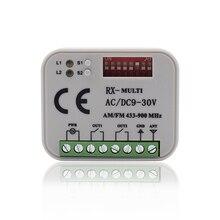 Récepteur à distance RX MULTI 300-900MHZ ca/cc 9-30V commutateur à distance pour émetteur de commande 433mhz/300/315/330/390/868 mhz