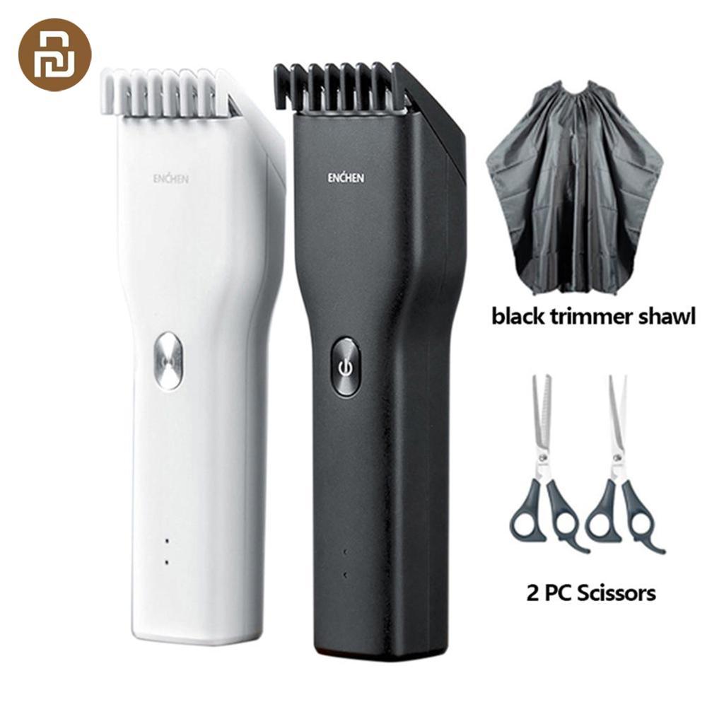 Youpin enchen elétrica aparador de cabelo clipper usb cortador de cabelo cerâmica carregamento rápido trimmer clipper para presentes natal