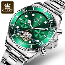 OLEVS Water Ghost Men Luxury Watches Mens Automatic Mechanical Watch Waterproof Fashio Classic Hollo