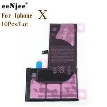 Оригинальный литий ионный полимерный аккумулятор EENJEE 10 шт./лот для Iphone X 0, запасные части для мобильного телефона