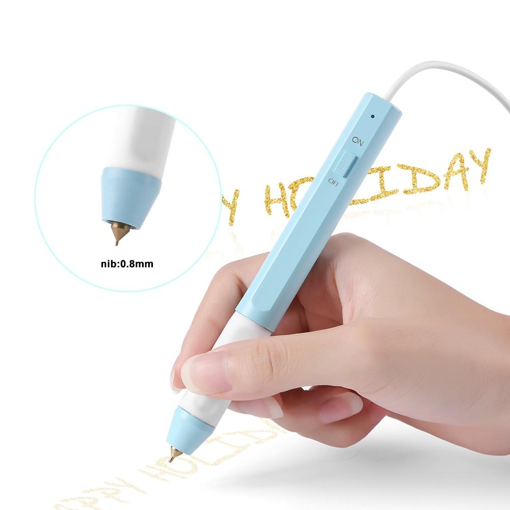 USB 0.8mm /1.5mm Hot Stamping Pen Hot Foil Pen Heat-resistant Grip Heating for DIY Scrapbooking Cards Crafts Heat Supplies
