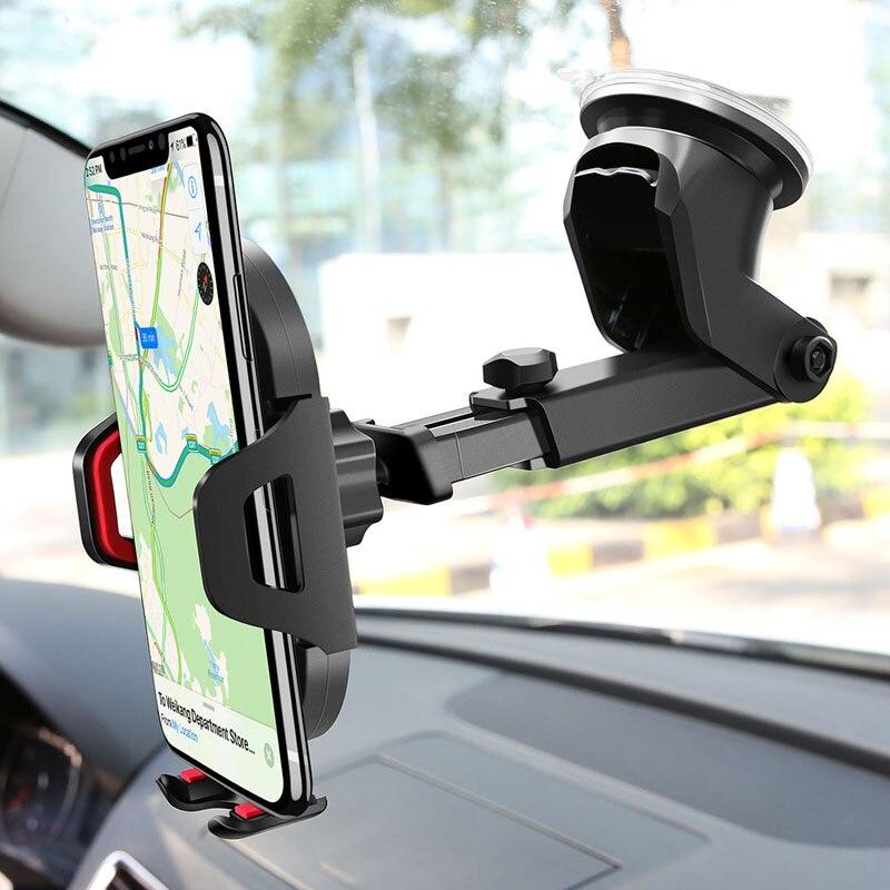 Soporte de teléfono de coche 360 grados soporte para teléfono móvil soporte de ventosa telescópico soporte de ventilación de aire de coche soporte para teléfono móvil soporte Perezoso