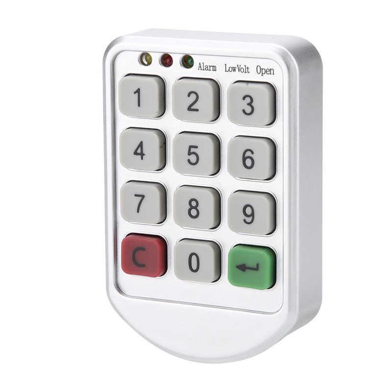 electronic lock digital combination lock password keypad number cabinet door code locks for cabinet door drawer door hardware ABS Plastic Panel Digital Electronic Intelligent Password Keypad Number Cabinet Door Code Lock
