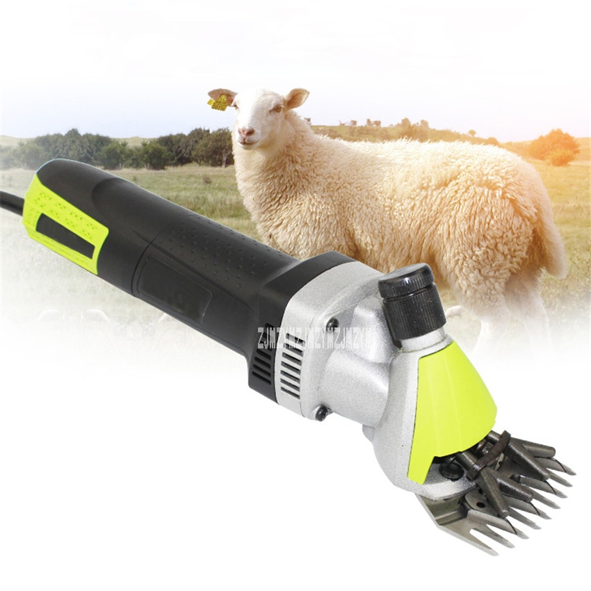 N1J-GM01-76 Electric Wool Shears Portable Electric Animal Hair Shearing Clipper Farm Shears Cutter Wool Scissor 110V/220V 500W
