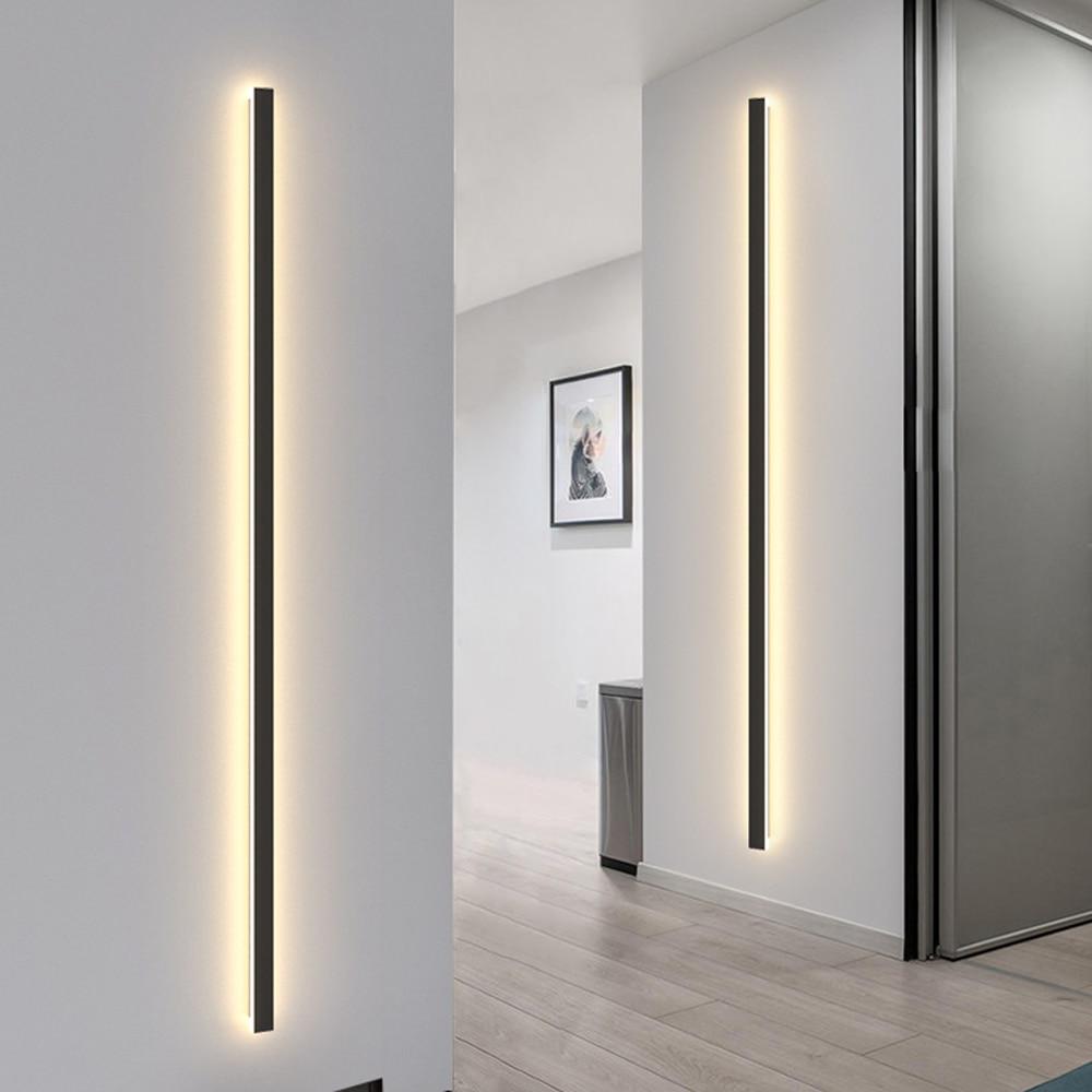 مستطيل الجدار ضوء داخلي في الهواء الطلق IP65 الجدار مصباح حديقة فيلا الشرفة الشمعدان مصباح AC220V نوم السرير الجدار تركيبات إضائة