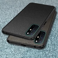 for oneplus 8t case genuine leather hard silicone frame back cover for oneplus 6 6t 7 7t pro cases business