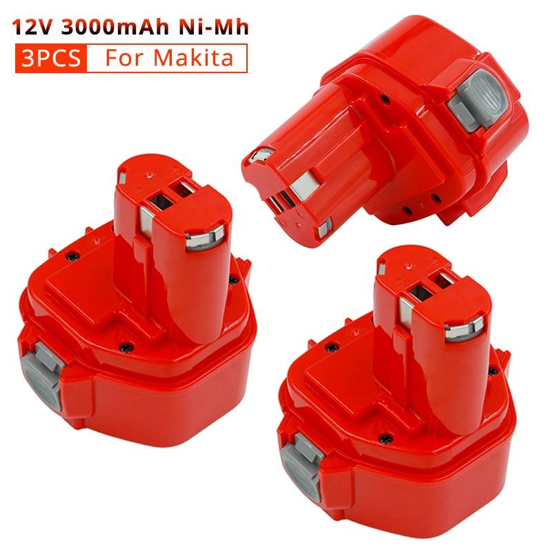 Аккумуляторная батарея PA12 Nimh 3,0 Ач, 3 шт., аккумуляторная батарея для Makita 1220 1233 1222 1223 1235 6227D 6313D 6317D 192696-2