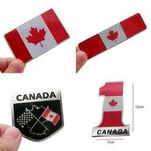 Drapeau du Canada emblème insigne voiture style moto autocollant autocollant pour BMW Audi Benz Kia Ford Nissan Honda Toyota Mazda Mitsubishi