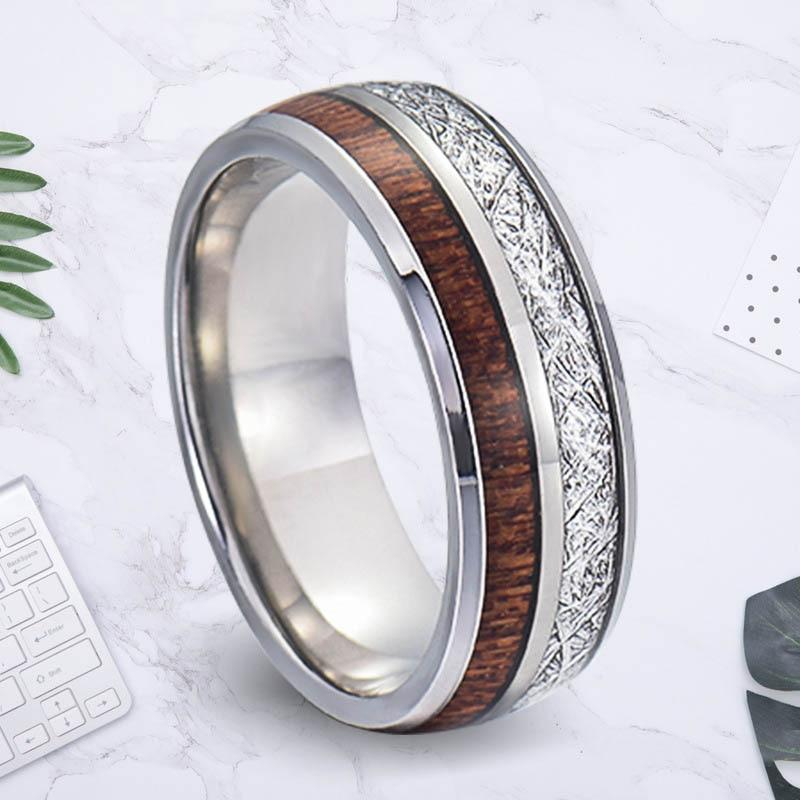 Anillo de acero inoxidable damen edelstahl, anillos de estado de ánimo para parejas, anillos de relaciones de larga distancia, anillo Steampunk, joyería de moda para hombres