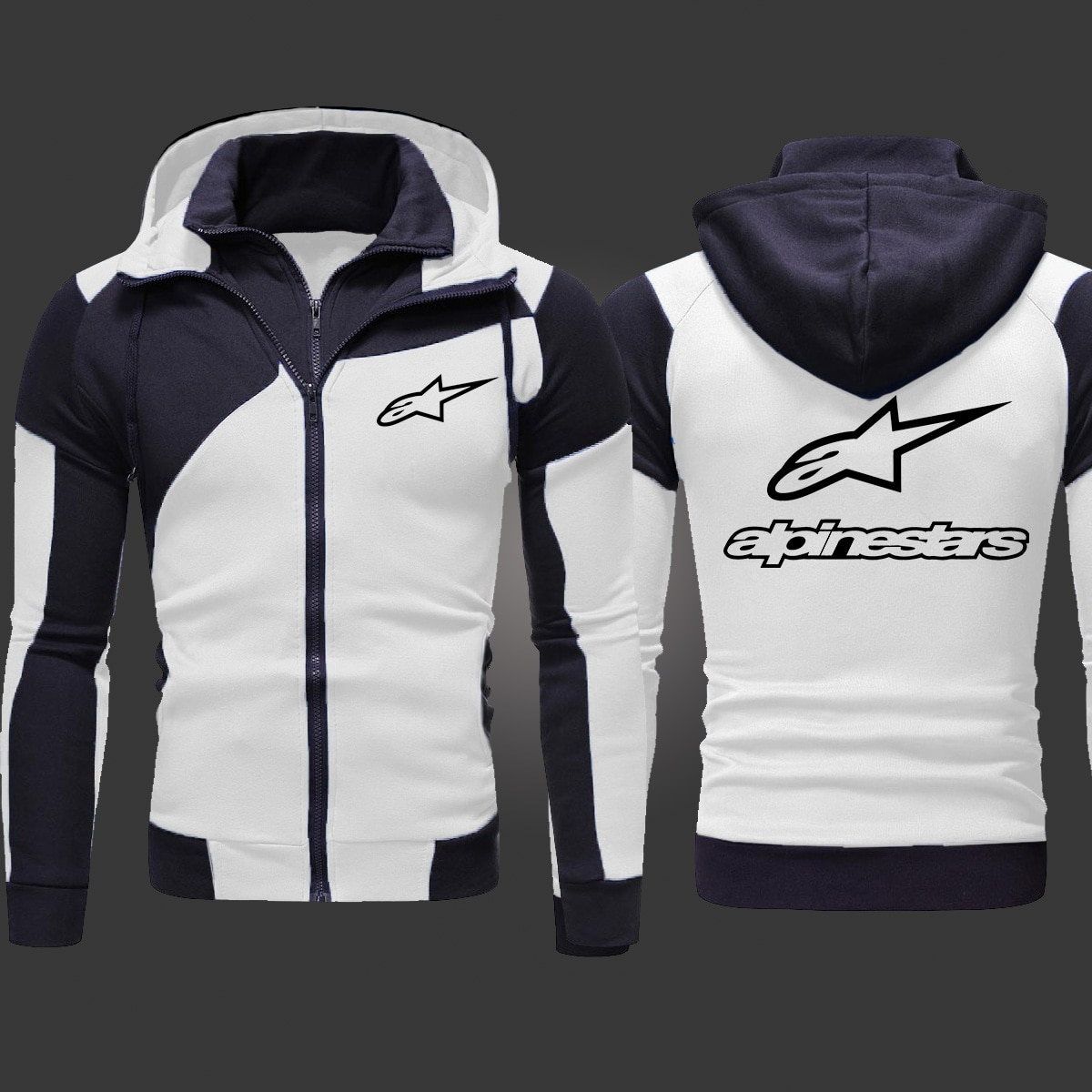 2021 Alpinestars Motorcycle Cycling Men's Fashion Outwear Jacket Zipper Hooded High Quality Hoody Athletic Wear Casual Hoodies