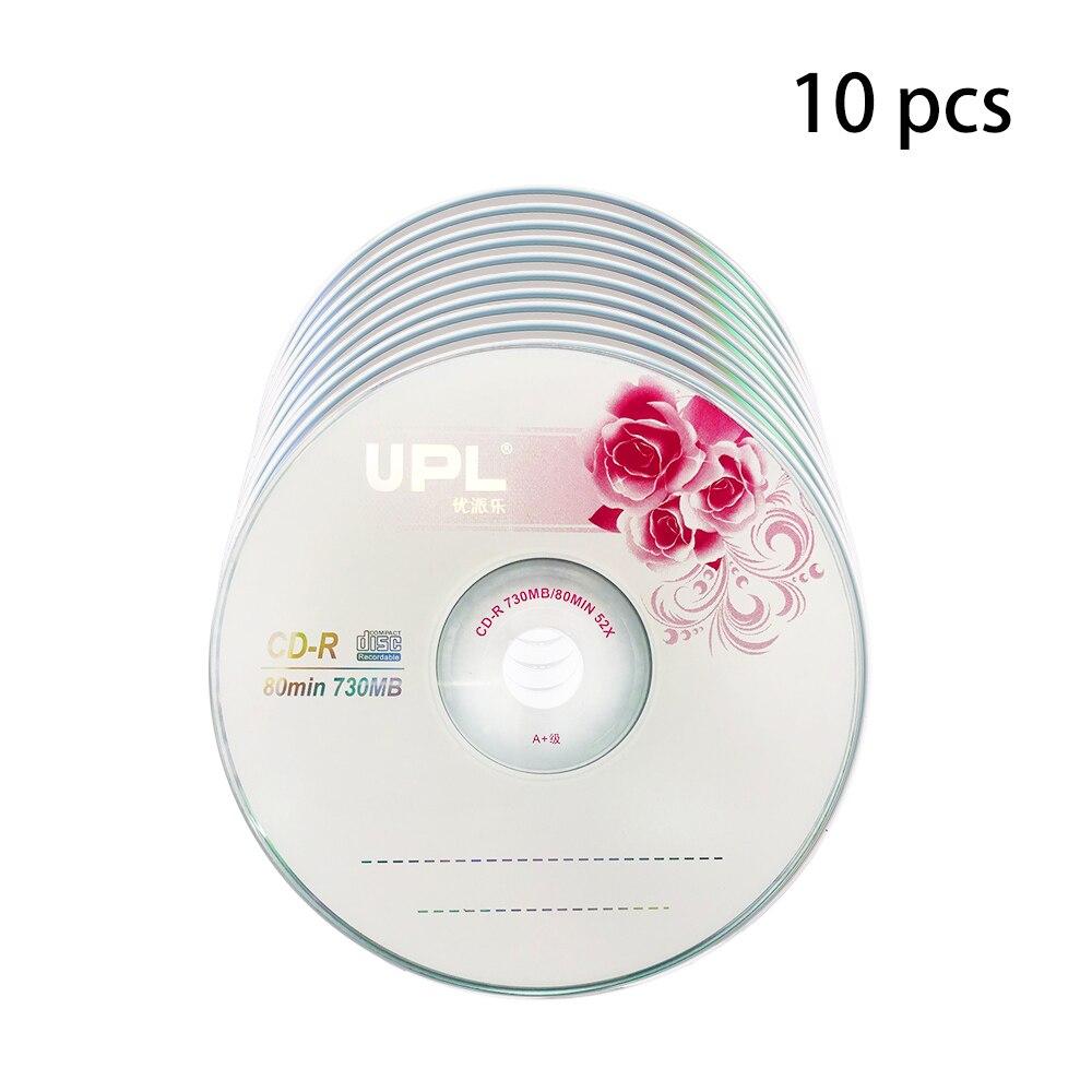 10PCS CD-R 700MB/80min Blank Disc Grade A 52X Multispeed Music CD Disk