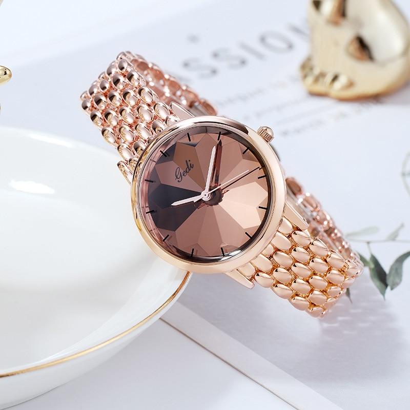 Luxury Brand Fashion Ladies Watch Stainless Steel Band Quartz Female Wrist Watches Waterproof Lady Gifts Clock Relogio Feminino