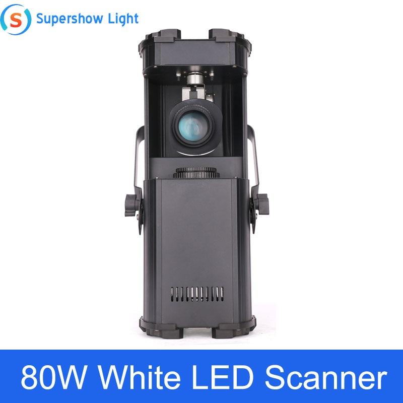 Escáner de luz LED blanca de 80W para Dj, efecto de iluminación para escenario, escaneo de alta potencia para Barra de discoteca