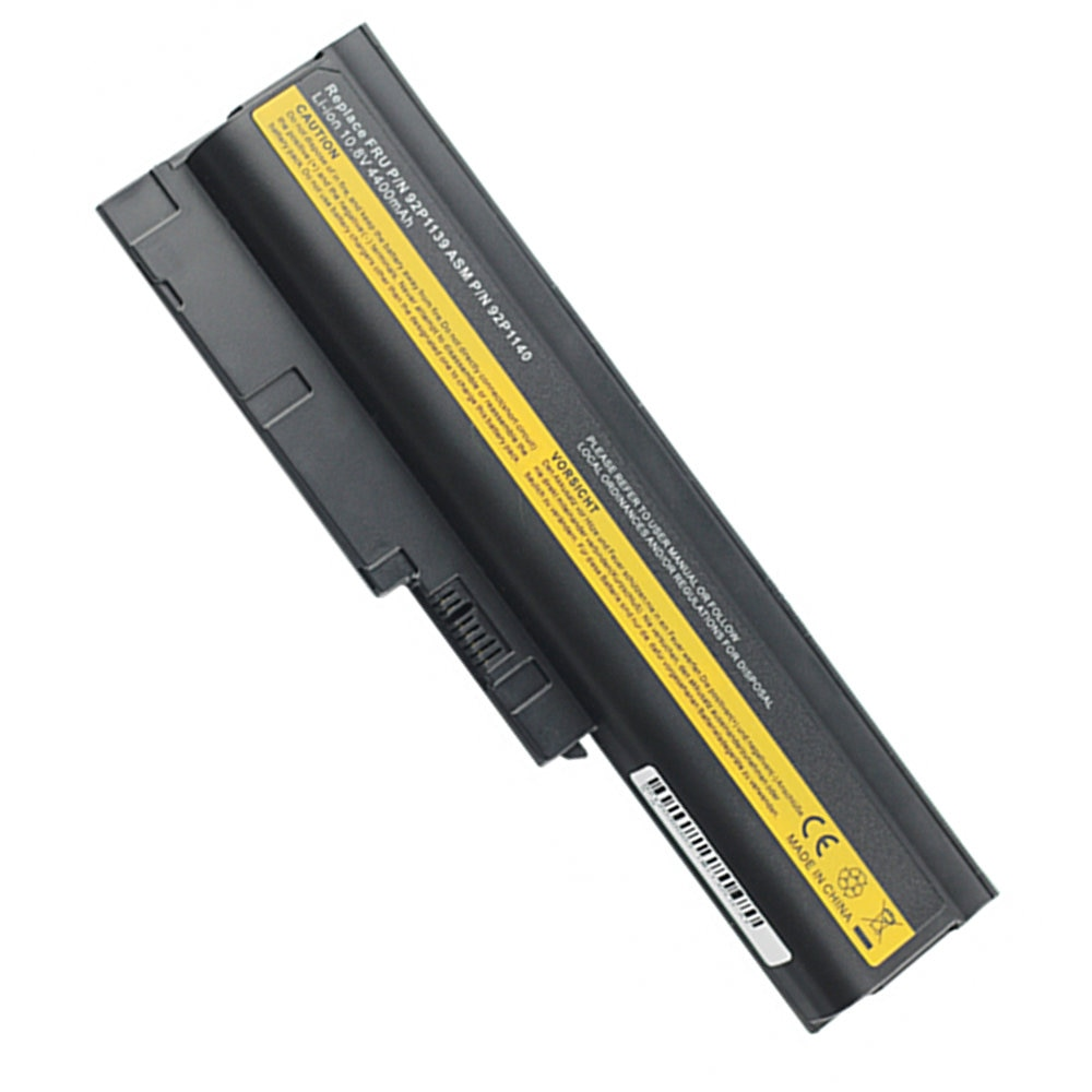 4400mah batería nueva para Lenovo ThinkPad T60 SL400 T500 T61 r60 sl300 t60p w500 SL500 R500 R61e R61i 92P1138 portátil