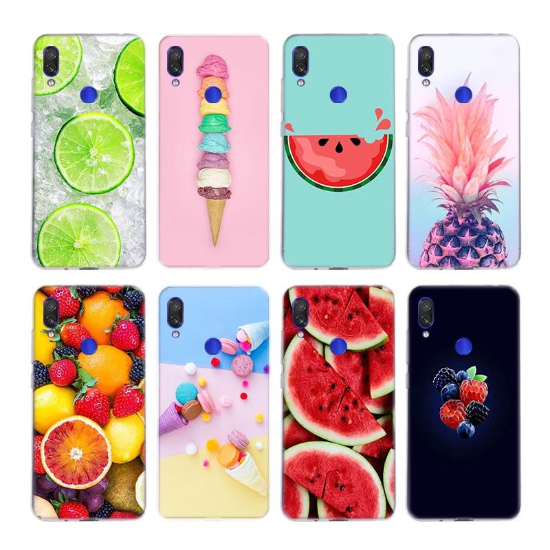 Summer Fruit Pineapple Watermelon Lemon Silicone Fundas Case For Xiaomi Redmi Note 9 8 7 6 5 Plus 4 Pro 7A S2 6A 5A K30 Cover Co