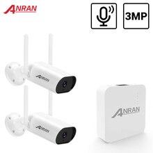 ANRAN 3MP Mini système de vidéosurveillance sans fil enregistrement Audio extérieur étanche P2P Wifi ensemble de caméra de sécurité Kit de Surveillance vidéo APP