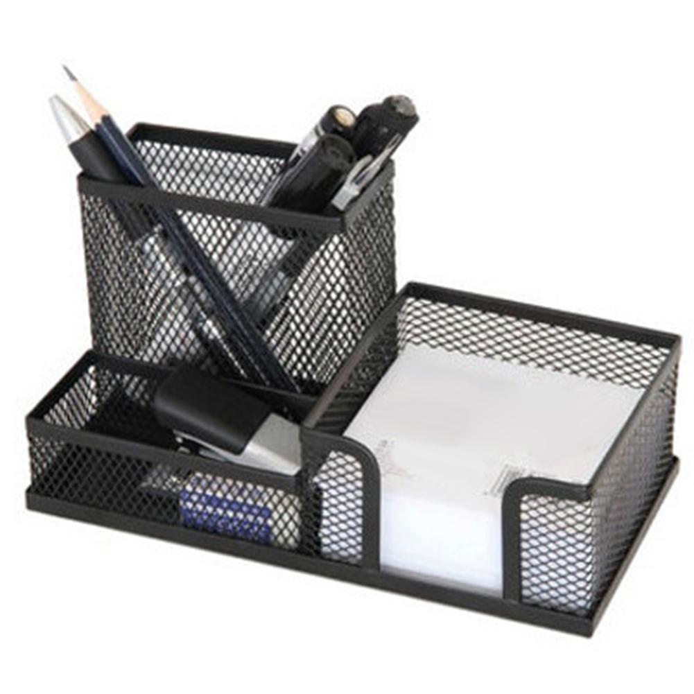 Metal Stand Mesh Cube Combination Holder Study Storage Desk Desktop Accessories Stationery Organizer Pen Pencil Office Supplies