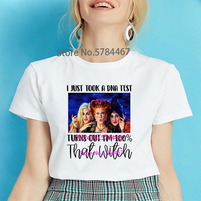 Camiseta para mujer de Villain maléfica Evil Queen, acabo de hacer una prueba de ADN, y me convierte en un 100 por ciento en Camiseta con estampado de letras de bruja