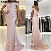 lace mermaid prom dress off the shoulder zipper trumpet formal evening party gown