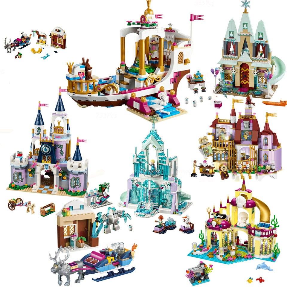 NEW Bricks Compatible lepining girl Princess  Princess Friend series Building Blocks Model toys for children Girl Gift