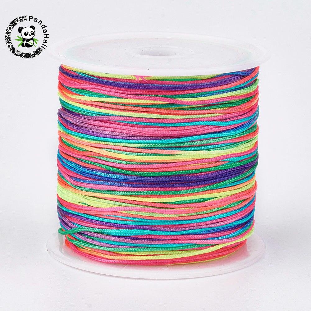 45m/Roll 0.8mm Nylon Cord Beading Threads for DIY Make Bracelets Jewelry Craft Braided String