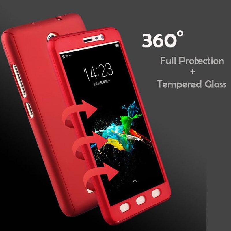 360 grado a prueba de golpes a prueba de funda de teléfono para Xiaomi Redmi Note 5 5 5 6 6 7 8 Pro 2 3 4 de 8T 3S 4A 4X 5A 5 Plus S2 6A 7A 8A delgada libre de la cubierta de vidrio