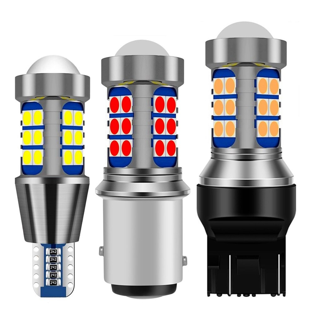 1Pcs 1156 BA15S P21W 1157 BAY15D P21/5 W BAU15S T15 W16W T20 7443 W21/5 W 7440 W21W T25 3157 LED Auto Bremslicht Auto Reverse Lampe