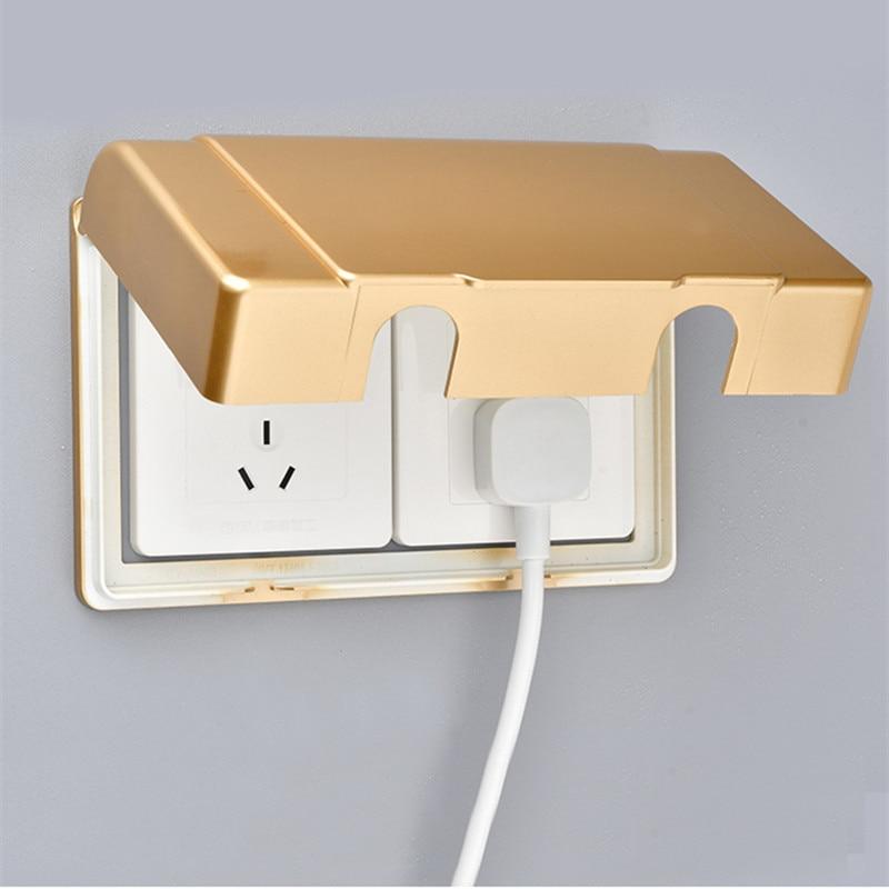 1 قطعة مزدوجة 86 نوع المقبس صندوق مقاوم للماء لاصق مفتاح الإضاءة حماية حالة سلامة الطفل المنزلية الكهربائية التوصيل غطاء غبار