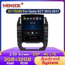 """Autoradio HD 9.7 """", Android, IPS 2.5D, navigation GPS, stéréo, écran type Tesla, multimédia, pour voiture GEELY Emgrand EC7 (2012, 2013)"""