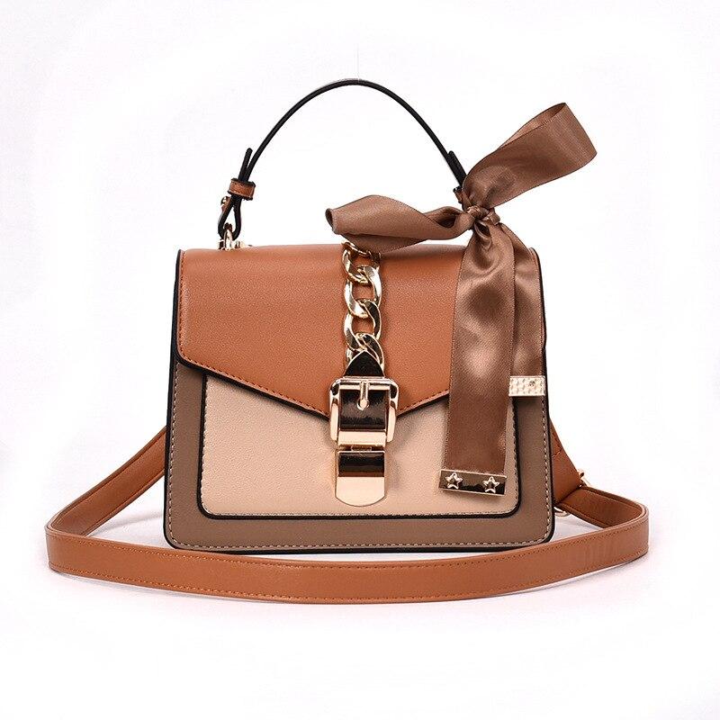 On the new small bag female 2021 new small square bag handbag handheld collision colour simple single shoulder bag