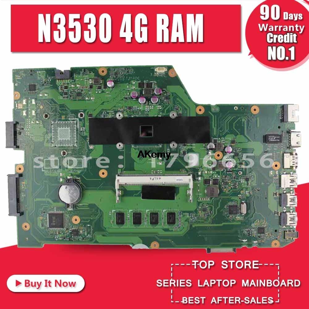 X751MA материнская плата для ноутбука N3530 4 ядра rev2.0 для ASUS k751M K751MA R752M R752MA X751MD тестовая материнская плата Тест 100% ok