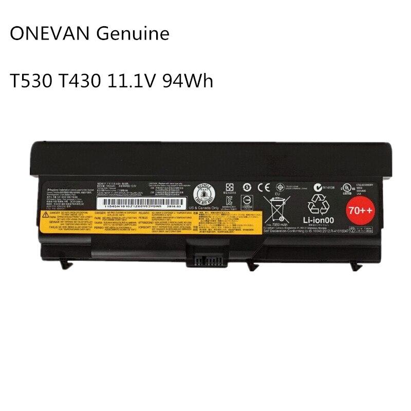 Nowe oryginalne 94Wh bateria do laptopa Lenovo ThinkPad T430 T430I L430 SL430 SL530 T530 T530I L530 W530 45N1011 45N1010 9 komórki