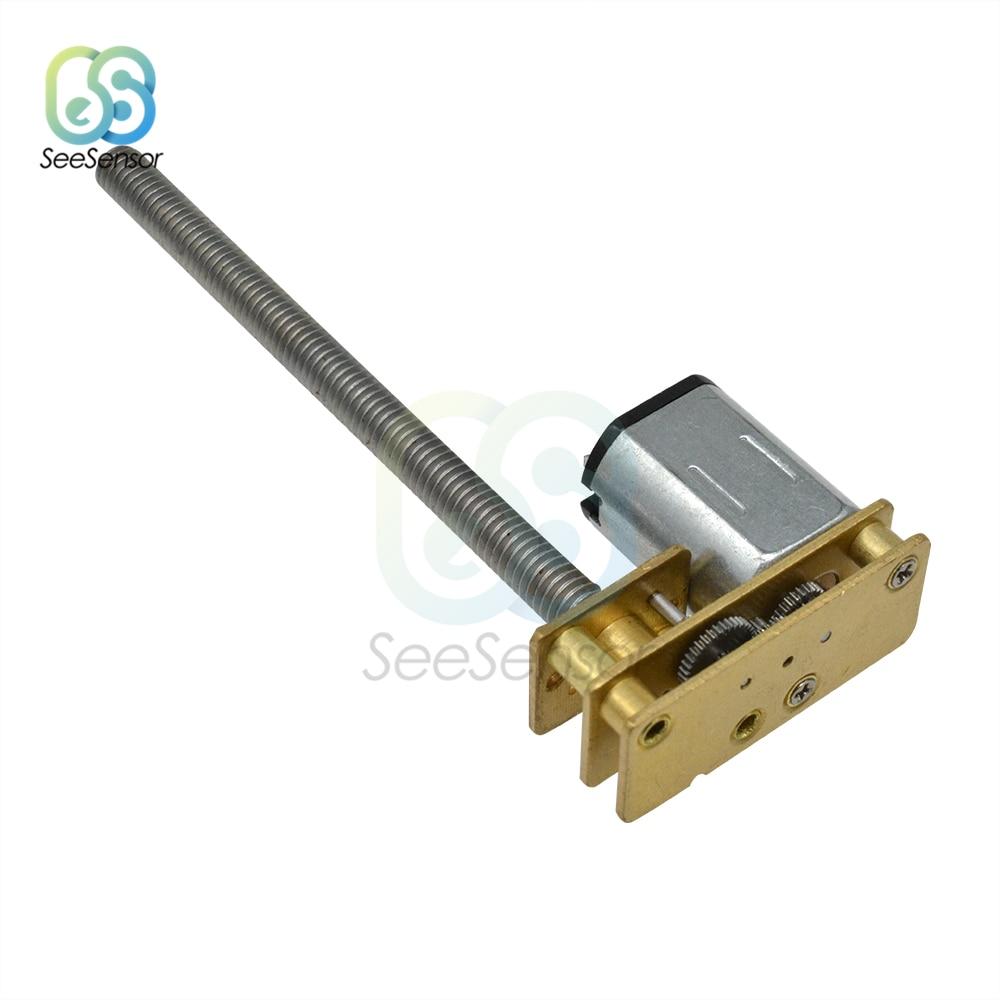 3V 6V 12V DC Gear Motor GA1024-N20-M4 * 55 pequeña máquina eléctrica Motor 5/30/60/100/150/200/300/400/500/600/1000RPM