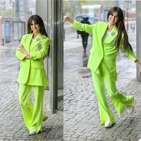 chic fashion women suits custom made sexy peaked lapel loose over size blazer streetwear outdoor casual daily coat 2 pieces