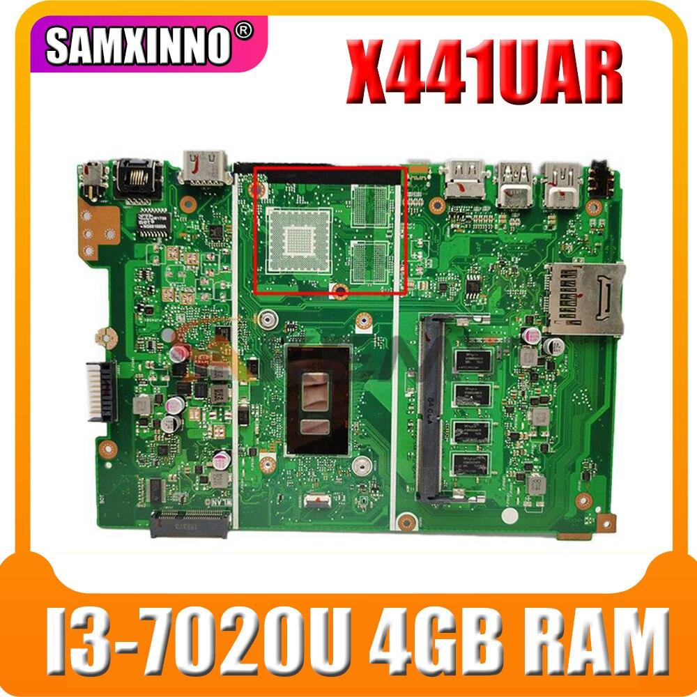 X441UAR اللوحة الأم ث/I3-7020U 4GB RAM ل ASUS X441UV X441UVK X441UR X441URK X441UB X441UA اللوحة الأم للكمبيوتر المحمول اختبار موافق