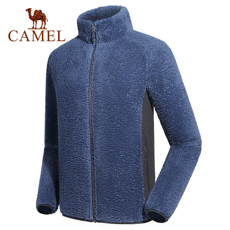 CAMEL Women Men Softshell Fleece Jacket Windproof Cotton Warm Hiking Outdoor Sports Base Shirt