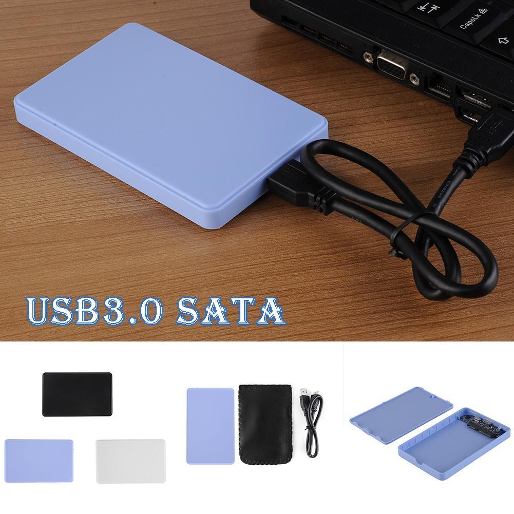 2.5 Inch SATA To USB HDD SSD Hard Disk Case Enclosure SATA Mobile Hard Disk Box Free Screw Support 2TB USB 3.0 Hard Driver